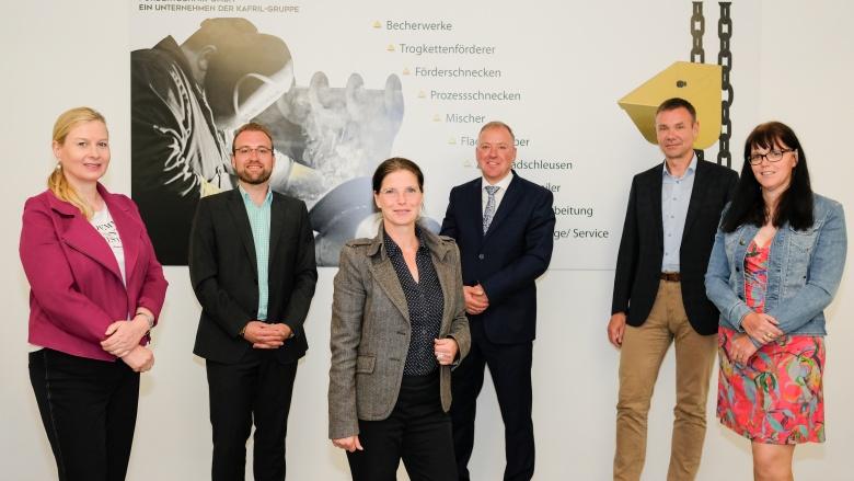 Auf dem Foto zu sehen (v. l. n. r.): Christine Enenkel, Christian Funke, Heike Diebler, Kay Ritter, Alexander Düsterhöft und Katharina Wagner