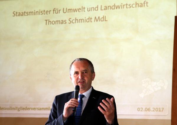 Staatsminister für Umwelt und Landwirtschaft Thomas Schmidt MdL
