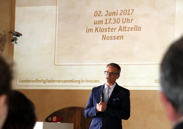 Neuer und alter Landesvorsitzender Dr. Markus Reichel