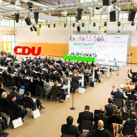 Starke Wirtschaft. Starker Freistaat. Wohlstand für alle - 31. Landesparteitag der Sächsischen Union in Glauchau